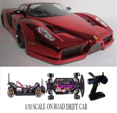 1/10 Scale Ferrari Fxx RTR Custom RC Drift Cars 4WD 2.4Ghz & Charger  #RedcatRacing