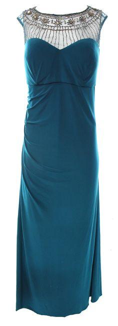 Patra NEW Green Emerald Women's Size 22W Plus Sheath Embellished Dress $229