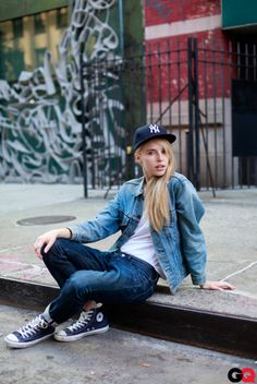 This is how we would wear our Converse kicks. How about you? #fashion #style #casual #tomboy #caps #hats #denim