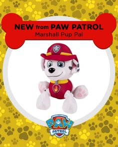 You could win this cuddly Marshall plush as part of the PAW Patrol Sweepstakes!