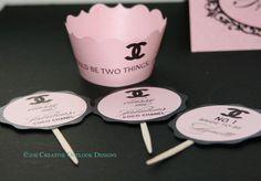 Classic Coco Chanel Wedding Birthday Baby Party Bridal Accessories Invitation. $2.00, via Etsy.