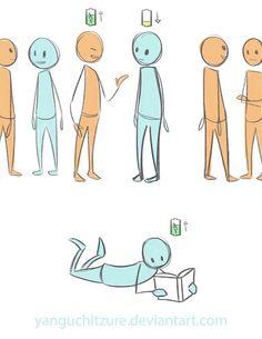 introvert illustration battery