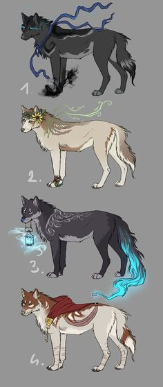 3 is mine the rest are open cool wolf drawings, fantasy drawings, animal drawings Cool Wolf Drawings, Fantasy Drawings, Cute Animal Drawings, Cute Drawings, Fantasy Art, Mythical Creatures Art, Mythological Creatures, Magical Creatures, Fantasy Creatures