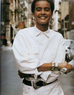 Nadege du Bospertus,  US ELLE April 1990, Photographer: Pamela Hanson Stylist: Brana Wolf