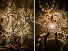 #Vainius # obsessed_with_Light_Art   #night_lamps  http://www.boredpanda.com/how-to-turn-a-coconut-into-a-jewel/