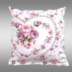 Povlak na polštář PROVENCE Spring rose Provence, Throw Pillows, Spring, Bed, Toss Pillows, Cushions, Stream Bed, Decorative Pillows, Beds