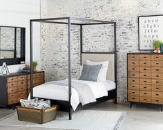 Magnolia Home - Framework Upholstered Canopy Youth Bedroom