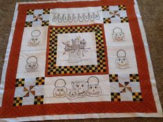 Vintage Trick or Treat - Crabapple Hill Pieced and embroidered by Jean Dougherty Quilted by Karen Denney