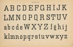 Schriftarten und  Zierschriften pm 1890  egyptienne