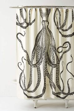 Octopus Garden Shower Curtain - anthropologie.com  #boughtit
