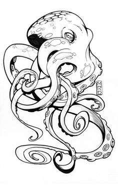 Every hour I publish the most interest… – Octopus Tattoo Octopus Drawing, Octopus Tattoo Design, Octopus Tattoos, Octopus Art, Sketch Tattoo Design, Tattoo Sketches, Tattoo Drawings, Art Sketches, Art Drawings