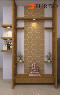 Mandir Design For Living Room The small puja mandir temple designs comprise wall mounted units shelf ideas and standalone cabinets. Because you deserve admirable things in your lif. Pooja Room Design, House Design, Door Design, Pooja Rooms, Room Door Design, Home Altar, Pooja Room Door Design, Wall Design, Living Room Designs