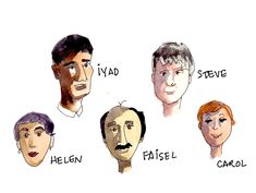 Some of my friends. Friends Illustration, Scribble, My Friend, Watercolor Paintings, Writer, Portraits, Drawings, Movies, Movie Posters