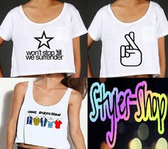 A WEBSITE 4 THESE T SHIRTS!!!!!!!!!!!!!!!!! GO ON IT NOWWWWW BUYING EVVVEEERRRRYYTTTTHHHIIINNGGG One Direction Inspired Tops PREORDER by StylesShop on Etsy,