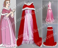 Beauty and The Beast Belle Pink Dress Cosplay Costume from Beauty and The Beast