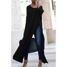 Femmes Sweat Shirt Chemise Longue Tunique Ailes Manche Batwing Pull S M L XL XXL