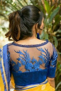 Buy Designer Blouses online, Custom Design Blouses, Ready Made Blouses, Saree Blouse patterns at our online shop House of Blouse from India. Saree Blouse Neck Designs, Fancy Blouse Designs, Saree Blouse Patterns, Designer Blouse Patterns, Designer Saree Blouses, Indian Blouse Designs, Design Patterns, Blouse Designs Catalogue, Mode Wax
