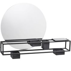 Description split This sleek holdall with a round mirror, elegant marble shelf and perforated metal storage containers is perfectly suited to either home or office. Much-lauded emerging Danish designer Laura Bilde conceived Mirror Box with a powder-coated steel frame that allows the 4 storage boxes and marble plate to be moved around at will to suit individual needs. And its graphic look and elegant construction make it a handsome addition to any hallway, bedroom, bathroom or work space… Moving Storage Containers, Moving And Storage, Storage Boxes, Marble Shelf, Marble Plates, Mirror Box, Mobile Storage, Perforated Metal, Self Storage