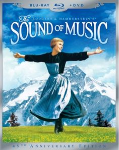 The Sound of Music movie blu-ray cover  I think I could sing these songs forever.
