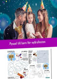 Pyssel till barnen för nyårsfesten. Använd koden GOTTNYTT så blir det helt gratis. Happy New Year, Movie Posters, Adult Games, New Years Eve Party, Film Poster, Happy New Year Wishes, Billboard, Film Posters