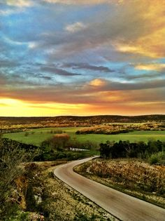 Texas Hill Country Sunset. USA.