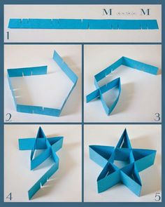 M double M: Folded paper stars (DIY). M double M: Folded paper stars (DIY). Origami Paper, Diy Paper, Paper Crafting, Paper Art, Origami Boxes, Dollar Origami, Origami Ball, Kirigami, Folded Paper Stars