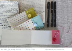 Sweet handmade notebooks - great gift idea for Xmas. Would be easy to personalise too.