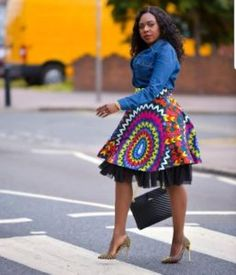 Perfect Ankara First Date Outfits – Fashion Ruk African Print Skirt, African Print Dresses, African Dresses For Women, African Attire, African Wear, African Prints, African Women, African Inspired Fashion, Latest African Fashion Dresses