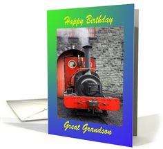 Happy #Birthday Great #Grandson Greeting Card