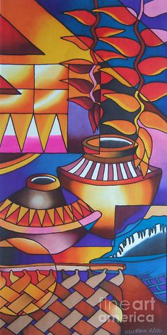 Fiji Islands Painting - Yau Ni Viti Iv by Maria Rova