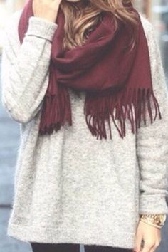 Scarves and sweaters my type of style