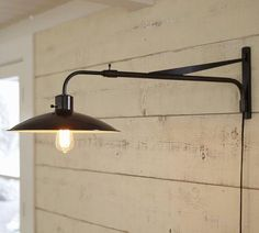 For Anna!!!barn sconce | ... Swing-Arm Sconce | Pottery Barn - iron, industrial, swing, arm, sconce