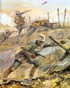 Assault Pistol On 13 January died Wilhelm Mauser, a German Businessman and engi. Military Art, Military History, World War One, First World, World History, Art History, Ww1 Art, Military Drawings, Special Forces