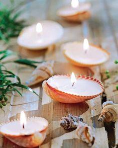 #candle #candles #shellcandle #decoration #beachwedding #beachtheme