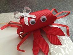 Toddler Crab Hair Clip - Baby Hair Clip - Ribbon Sculpture - Red Clippie - Girl Hair Clip - Infant Hair Clip. $5.95, via Etsy.