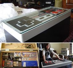95 best geeky crafts and nerdy diy projects images on pinterest diy geeky coffee table hubby would love it solutioingenieria Images