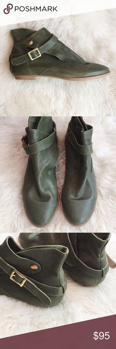 House of Harlow Green Leather Booties Omg. These are so epic! Looking for perfect festival bootie or fun accessory for your fav pair of jeans? These are it people! I have same pair. Size 40/10, but they fit like a true 9. I have same size and I love em! These run small as that's why I got the 10. Fits like a glove. You'll be in heaven if your a 9 and like this shoe! NWOT House of Harlow 1960 Shoes Ankle Boots & Booties