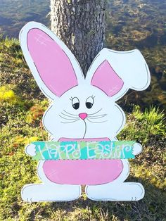 Giant Easter Peeps, Yard Art, Outdoor Easter Decoration, Painted ...
