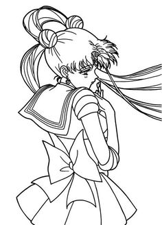 Cute Tsukino Usagi Sailor Moon Coloring Page