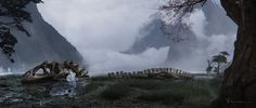 Misty Lagoon by jmalevez   Matte Painting   2D   CGSociety