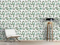 Design #Tapete Floralie Flora, Delicate, Curtains, Shower, Prints, Design, Self Adhesive Wallpaper, Wall Papers, Nice Asses