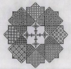 Star Challenge designed by Liz Almond of Blackwork Journey