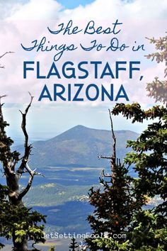 Flagstaff, Arizona is a fabulous destination! Fresh mountain air, historic sights, a fun ambiance, and an abundance of outdoor activities are the top reasons to visit. To help fellow travelers plan their trip itinerary, we are detailing the absolute best things to do in Flagstaff, AZ. Flagstaff Arizona, Cool Places To Visit, Places To Go, Sky Ride, Stuff To Do, Things To Do, Oak Creek Canyon, Arizona Travel, Arizona