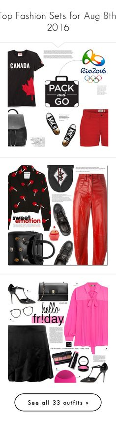 """Top Fashion Sets for Aug 8th, 2016"" by polyvore ❤ liked on Polyvore featuring Fjällräven, rag & bone, Converse, Avenue, rio, Moschino, Kenzo, Arche, Alexander McQueen and Valentino"