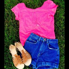 dELIA*s Nikki Solid Bow-Back Tee Super trendy hot pink open-back tee in great condition! Perfect for summer! 50% Cotton 50% Polyester dELIA*s Tops Tees - Short Sleeve