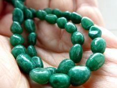 Jewelry Making Beads, Beaded Jewelry, Crystals And Gemstones, Natural Gemstones, Green Aventurine, Green Stone, Beading Supplies, Opal Gemstone, Round Beads