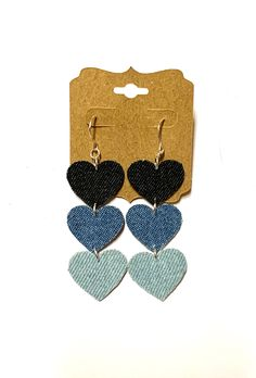 Excited to share this item from my #etsy shop: Denim jean fabric layered heart earrings lightweight boho hippie love friendship women teen birthday jewelry handmade unique denim jewelry#denim#jean#fabric#layered#heart#earrings#boho#hippie#love#friendship#lightweight#handmade#homemade#women#teen#birthday #gift#denimjewelry#denimearrings#unique Denim Earrings, Heart Earrings, Boho Earrings, Hippie Love, Boho Hippie, Jeans Fabric, Stainless Steel Earrings, Teen Birthday, Picture Photo