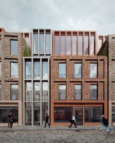 Lower Marsh Hotel Studio Kyson Archinect is part of Brick architecture - Lower Marsh Hotel by Studio Kyson Architecture Romane, Architecture Résidentielle, Romanesque Architecture, Cultural Architecture, Education Architecture, Classic Architecture, Commercial Architecture, Wooden Facade, Brick Facade