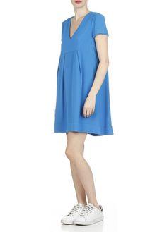 Veste sur robe bleu marine