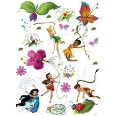 Disney Fairies Poster-Sticker Wall-Tattoo - Tinker Bell, Iridessa, Rosetta, Silvermist, Fawn x 26 inches) Tattoo Tinkerbell, Hades Disney, Tinkerbell And Friends, Disney Fairies, Tinker Bell, Baby Clip Art, Favorite Cartoon Character, Wall Tattoo, Disney Fan Art